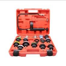 ALLSOME 18pcs Car Water Tank Leak Detector  Cooling System Tester Kit Radiator Pressure Test Auto Diagnostic Tool Repair Gauge