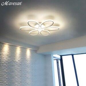 Image 5 - Современные светодиодные потолочные лампы с дистанционным управлением для гостиной спальни 78 Вт 72 Вт 90 Вт 120 Вт алюминиевая домашняя лампа с плафоном