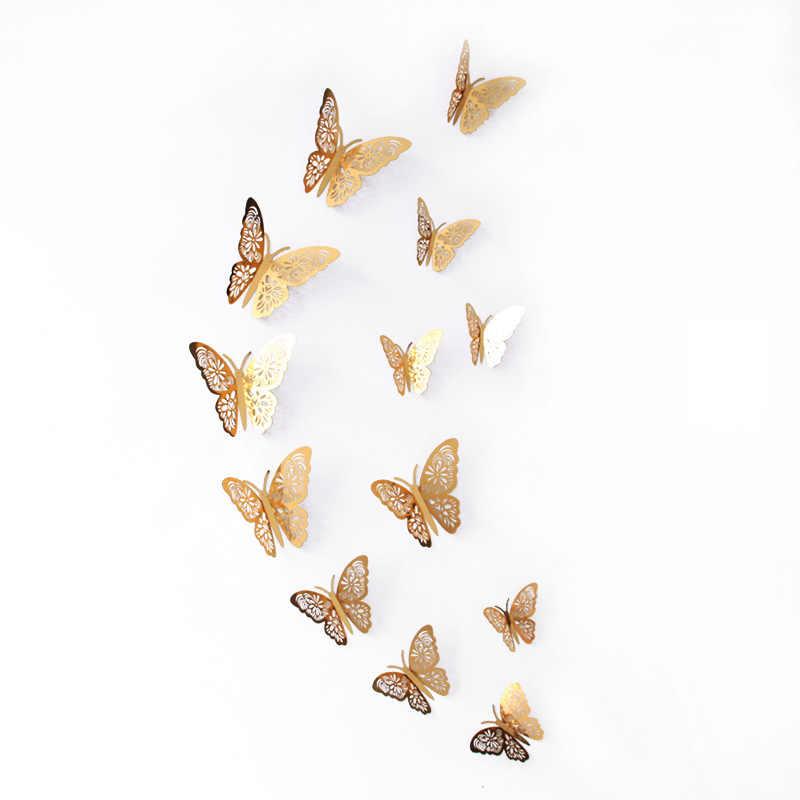 中空 3D蝶壁の装飾かわいい蝶のウォールステッカーアート装飾祭パーティー配置