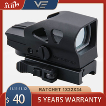 Vector Optics Ratchet Gen Ii 1X23X34 Multi Reticle Green Red Dot Sight Met Qd 20Mm weaver Mount Voor Lieve Schieten Jacht