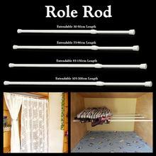 Spring Telescopic Net Voile Tension Curtain Curtain Rail Loaded Pole Rod