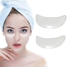 2Pcs Reusable Waterproof Silicone Anti-wrinkle Eye Pads Flattening Patches New
