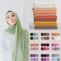 Muslimischen Chiffon Hijab Schal Frauen 2020 Islam Schals Einfarbig Schal Kopf Wrap Islamischen Hijabs Kopftuch Foulard Femme Musulman