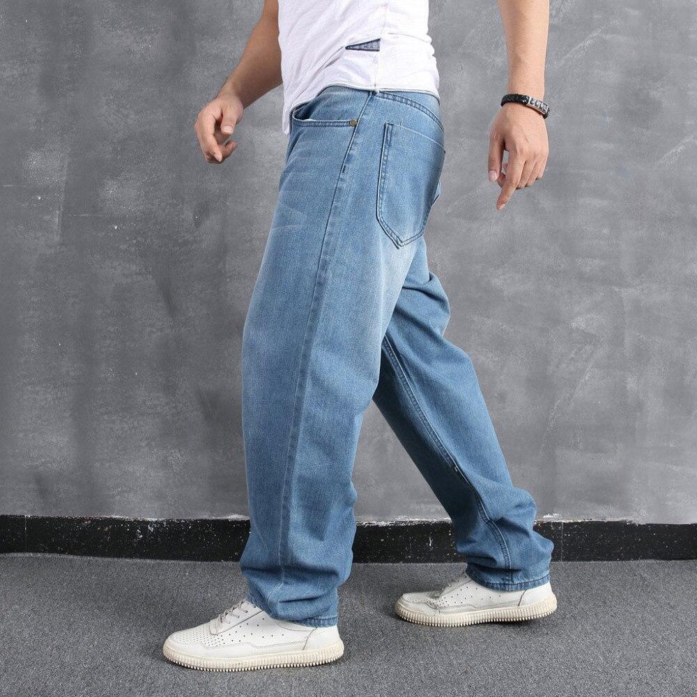 Men`s Loose Large Size Fat Casual Fashion Hip Hop Street Dance Denim Trousers #4L31 (16)