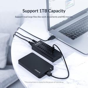 Image 4 - オリコ H1613 usb ハブ 16 ポート USB2.0 ハブ 12V2A 電源アダプタアップルの macbook のラップトップ pc タブレットの balck