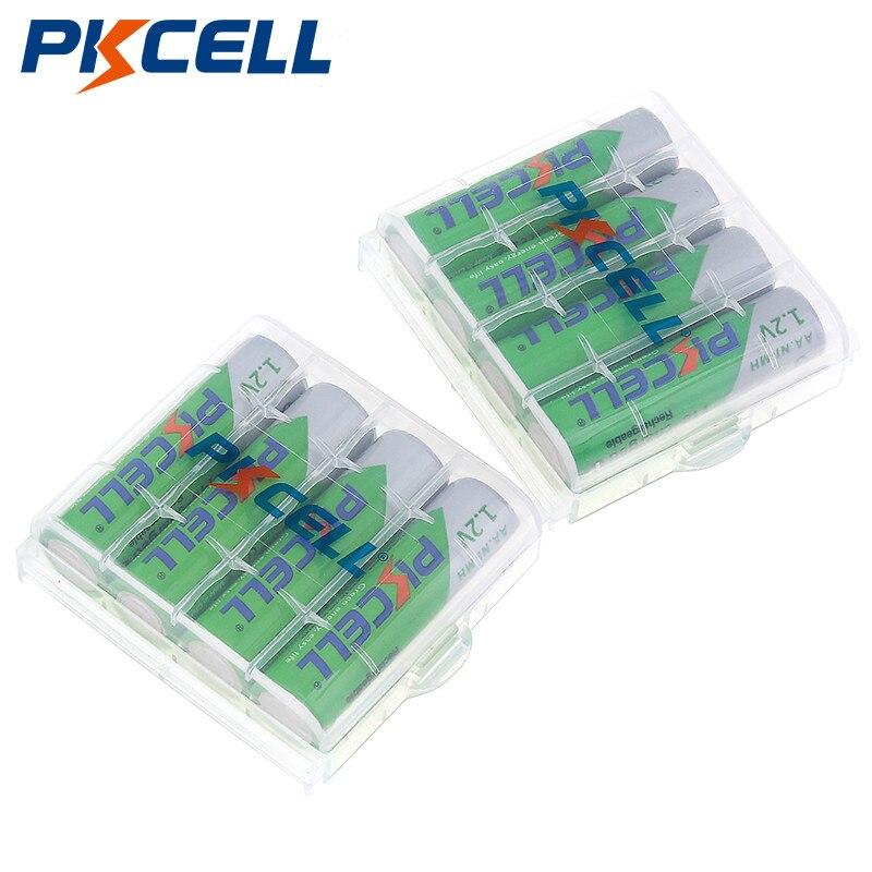 Bateria recarregável aa nimh 1.2 v 2200 mah ni-mh 2a da bateria recarregável do aa do cartão de pkcell 8 pces/2 baterias recarregáveis da bateria para a câmera