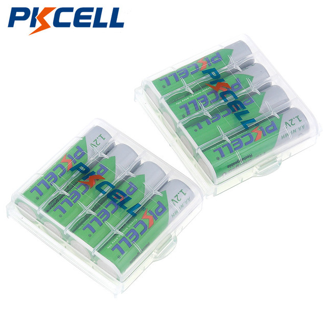 PKCELL 8pcs/2card AA Rechargeable Battery AA NiMH 1.2V 2200mAh Ni MH 2A Pre charged Bateria Rechargeable Batteries for Camera