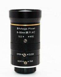 Machine vision 3 megapixel fixed focus 8-50mm industrial camera monitoring lens manual aperture C interface 2/3