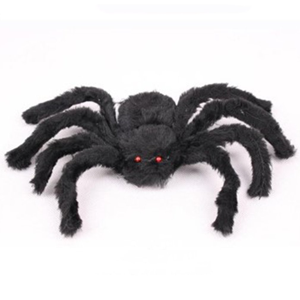 Creative Halloween Props Simulated Fake Spider For Haunted House Bars Decorative Supply Scary Plush Spiders Tricky Toys