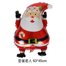 Hot balloon Santa snowman Christmas aluminum film foil air ball festival decorations