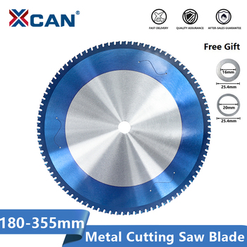 цена на XCAN Metal Cutting Saw Blade 180-355mm Circular Saw Blade For Cutting Aluminum Iron Steel Nano Blue Coated Carbide Saw Blade