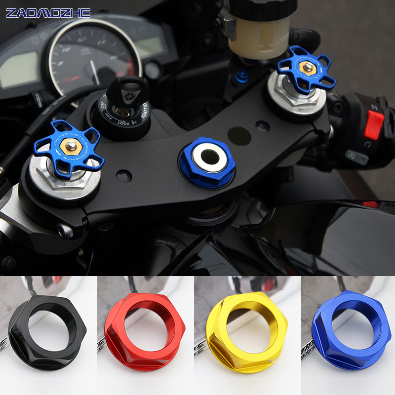 Motorcycle Central Console Top Triple Clamp case Center nut For Yamaha YZF-R6 R6 YZF-R1 R1 2006 2007 2008 2009 2010 2011-2015 image