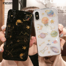 Luxury Glitter Space planet phone Cases For iphone XS MAX XR Back Cover Case For iPhone X 8 7 6S Plus 10 Soft Silicon Case Coque luxury glitter cute space planet phone case for iphone x xr 11 pro xs max 7 8 plus soft silicon back cover for iphone 6 6s 7plus