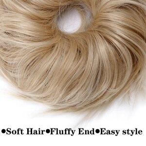 Женские синтетические волосы-булочки BENEHAIR, шиньоны для наращивания волос, резинка для волос, Пончик, хвостик