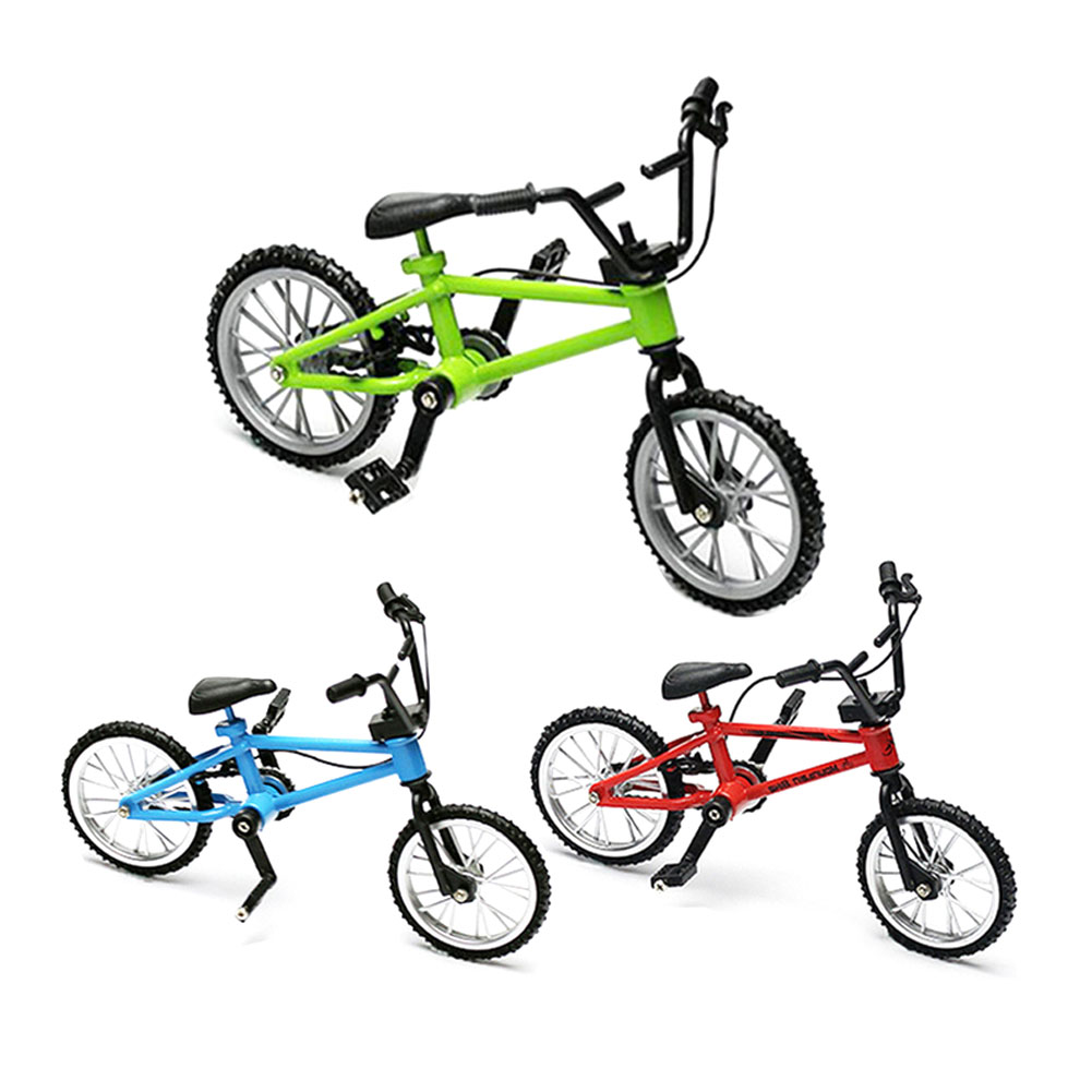 1pc Mini Bike Finger Bicycle Excellent Functional Miniature Metal Toys Extreme Sports Finger Bicycle Cool Boy Toy