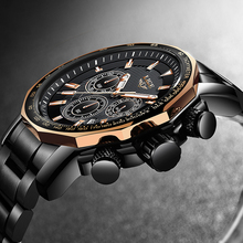LIGE Mens Watches Top Brand Luxury Sport Watch Men Business Date All Steel Big Dial Waterproof Quartz Clock Relogio Masculino