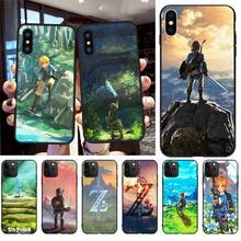 NBDRUICAI The legend of zelda Black TPU Soft Rubber Phone Cover for iPhone 11 pro XS MAX 8 7 6 6S Plus X 5S SE XR case