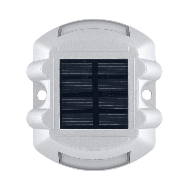 Practical Aluminum Solar LED Outdoor Road Driveway Dock Path Ground Light Lamp naturally charged by the sun