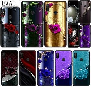 EWAU Crystal Rhinestone Flower print phone case for Xiaomi 5X 6 6X 8 9 SE A1 A2 Lite Max 3 F1 9T A3 Pro CC9 CC9e 9 Pro Note 10
