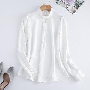 Image 5 - Naviu רך ונוח חולצה ארוך שרוול באיכות גבוהה חולצה עם יהלומים משרד ליידי Loose סגנון ירוק למעלה עבור נשים