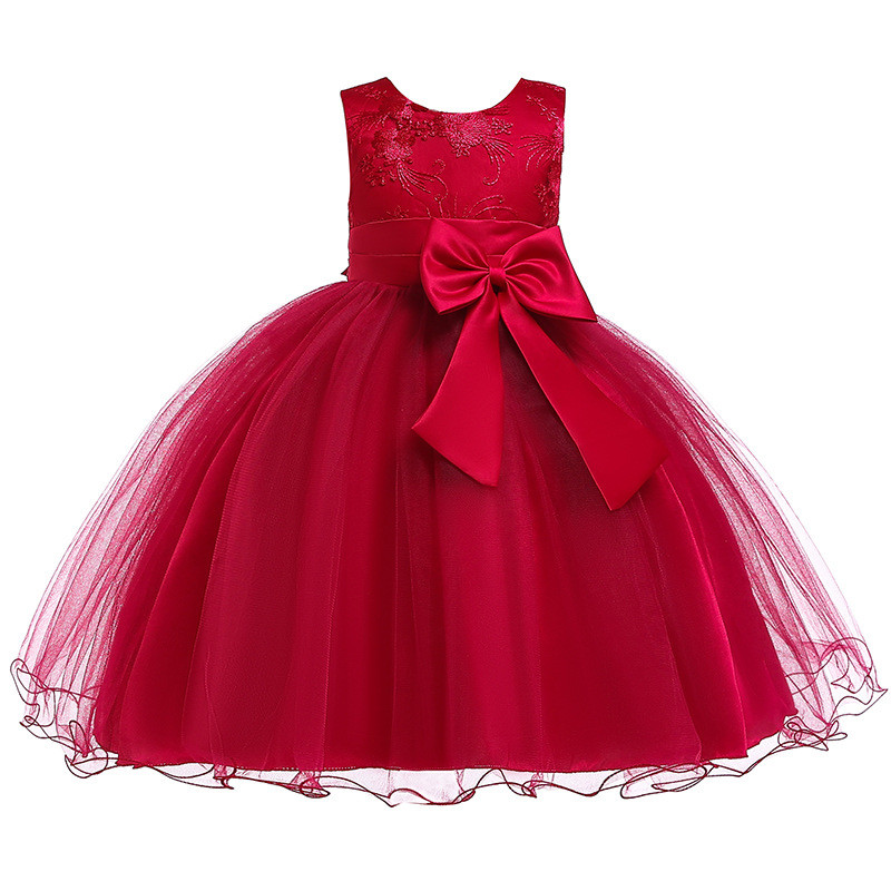 H576968243a46488a88782510d50e02ee7 Princess Flower Girl Dress Summer Tutu Wedding Birthday Party Dresses For Girls Children's Costume New Year kids clothes