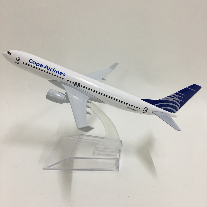 JASON TUTU 16cm Plane Model Airplane Model Copa Airlines Boeing B737-800 Airplanes Aircraft Model 1:400 Diecast Metal Planes Toy