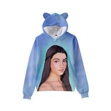 2021 Charli DAmelio 3D Hoodies Cat Ears Charli D'amelio Sweatshirts Men Women Girls Long Sleeve kids Oversized Clothing Kawaii