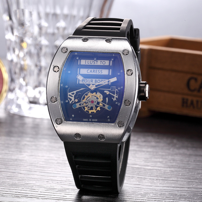Hot Sales Big Black DZ Digite S Watch Rlo Dz Auto Date Week Display Luminous Diver Watches Stainless Steel Wrist Man  Male Clock