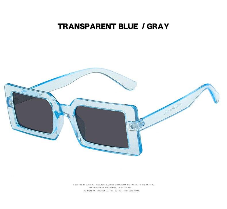 Fashion Sunglasses Designer Luxury Brand Rectangle Sunglasses Women Vintage Small 2021 trend Female Sun Glasses Shades For Women (17)