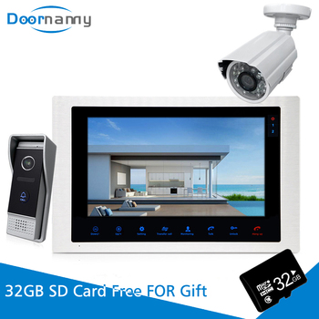 Doornanny Video Intercom With Camera Surveillance Security Video Doorbell Doorphone Wired 4WIres For Home Apartment home security 7 color screen record video doorphone intercom 2 700tvl doorbell camera 1 white monitor 8g sd free shipping