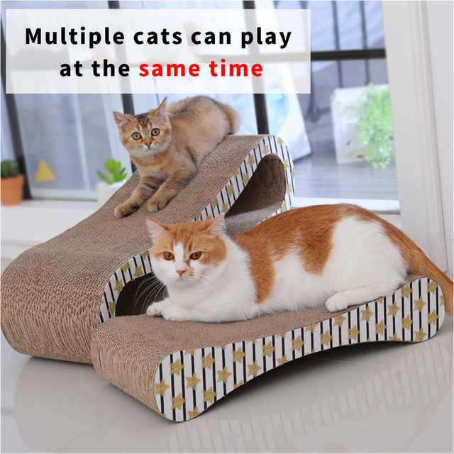 HOOPET 2 Premium Cat Scratcher Corrugated Paper Toys Cat Scratching Cat Scratch Board with Catnip Infinity Lounge Corrugated 3