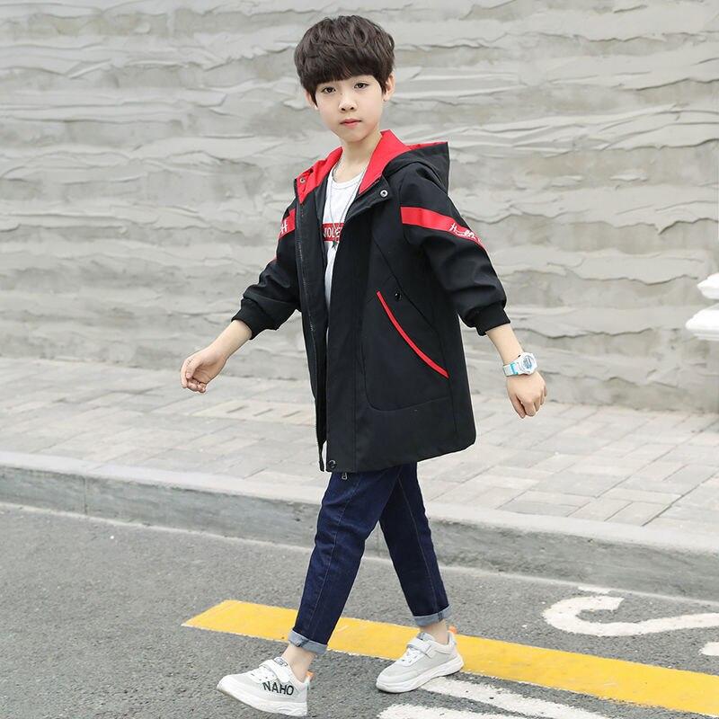 Куртка для мальчиков-подростков; осенне-зимняя куртка для мальчиков; детская куртка; детская теплая верхняя одежда с капюшоном; пальто для мальчиков; одежда - Цвет: picture color