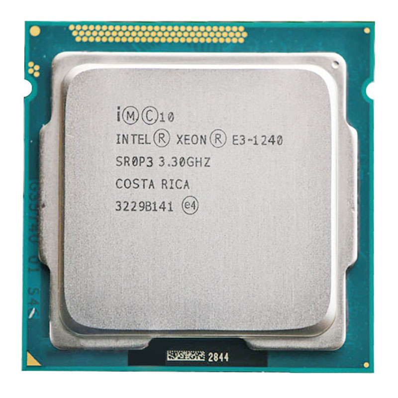 For Intel Xeon E3-1240 CPU 3.3GHz 8MB Quad-Core 80W LGA 1155 E3 1240 CPU