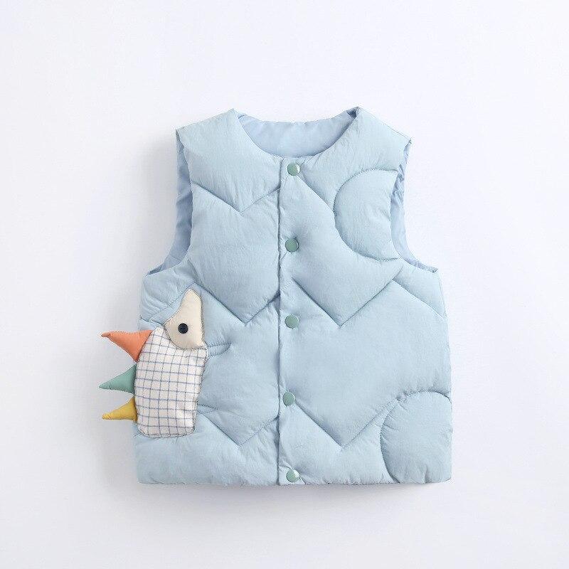 2020 Autumn Girls Warm Vest Fashion Baby Boys Thicken Waistcoat Kids Outerwear Vest Children Cartoon Down Cotton Jackets Vest 6