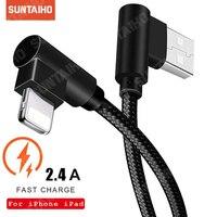 1M 2M 3M 90 Grad USB Daten Ladegerät Schnelle Ladekabel für iPhone 12 11 Pro XS max XR 6 7 8Plus iPad für iPhone 12 ProMax Kabel