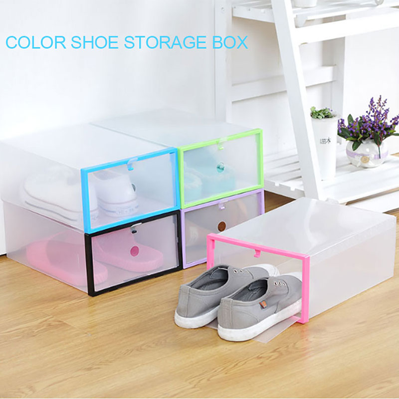 PP Convenient Durable Shoes Storage Box Shoe Box Foldable Box Housekeeping Household Supplies Organization Slipper Home