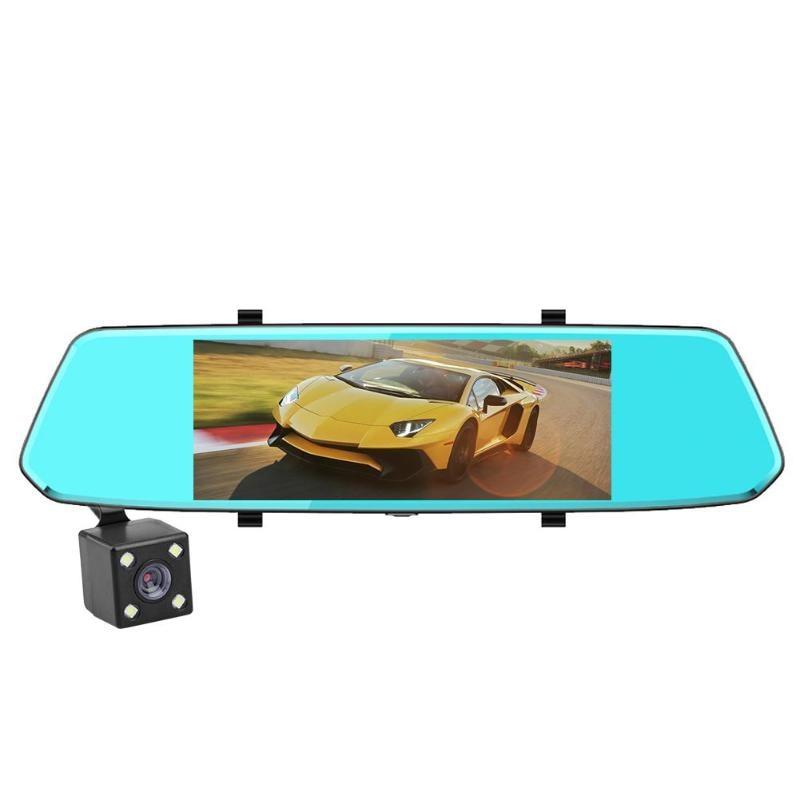 7 Inch Screen Fhd 1080P Dual Lens Car Dvr Camera Rearview Mirror Video Recorder Night-Vision Dash Cam Car Dvrs