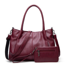 Handbags For Women 2020 New Retro Wild Shoulder Messenger Bag Fashion Large-capacity Mother And Child Bag Soft Leather Tote Bag new casual fashion loading and unloading handle women leather handbags atmosphere wild shoulder slung middle aged mother bag