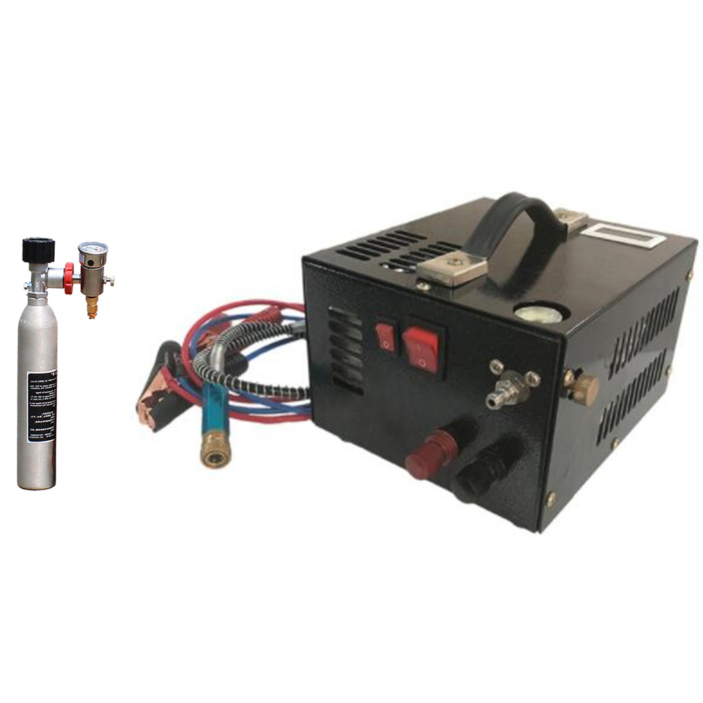 12V 4500psi 300bar 30mpa PCP Air Automobile Compressor Mini PCP Pump With 220V Transformer High Pressure Inflator Car Hunting