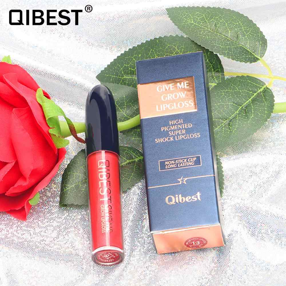Qibest Metallic Lipgloss Lippen Make-Up Cosmetica Glitter Shine Matte Vloeibare Lipstick Sexy Lip Make Up Pearl Diamant Mat Lipgloss