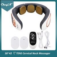 Elektrischen Impuls Neck Massager ZEHN Zervikale Massager Schmerzen Relief Entspannung Therapie Schulter Tiefe Gewebe Massage Fernbedienung