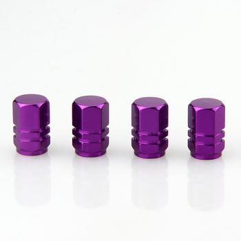 Zawór opony nakładki fioletowe okładki samochody motocykle rowery pnie opony akcesoria tanie i dobre opinie CN (pochodzenie) metal tire valve stem caps
