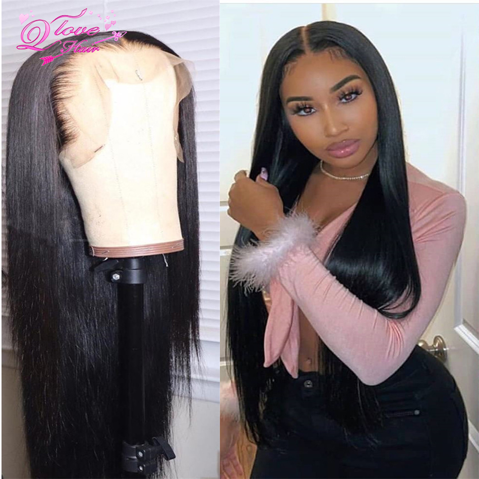 Brazilian 13x4/13x6 Lace Frontal Wigs Straight Remy Human Hair Wigs Pre Plucked Lace Closure Wig Transparent Lace Front Wigs