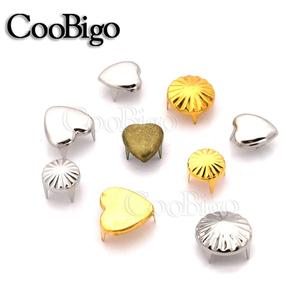 50pcs Metal 9 Style Claw Rivet Round Stud Spike For Punk Rock Leather Craft Bag Hat Shoe Garment DIY Sewing Accessory(China)