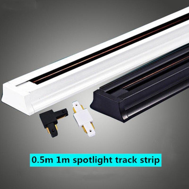 0.5m 1m 2 라인 트랙 라이트 알루미늄 엔지니어링 가정용 상업 의류 매장 스포트 라이트 스포트 라이트 전용 LED 레일