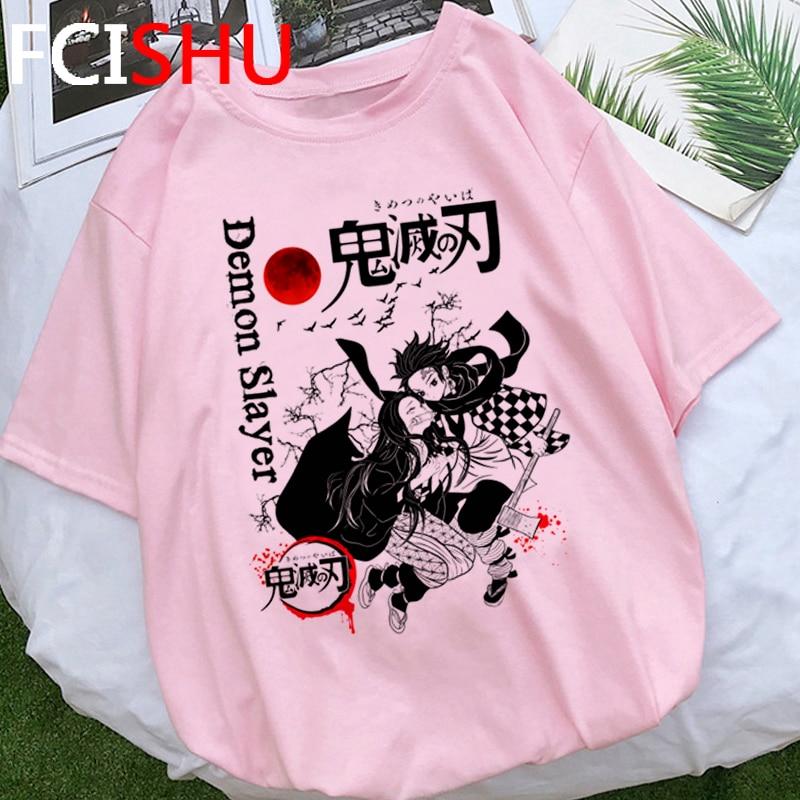 Demon Slayer Japanese Anime T Shirt Men Kimetsu No Yaiba Funny Cartoon T-shirt Unisex Plus Size Tshirt Hip Hop Top Tees Male