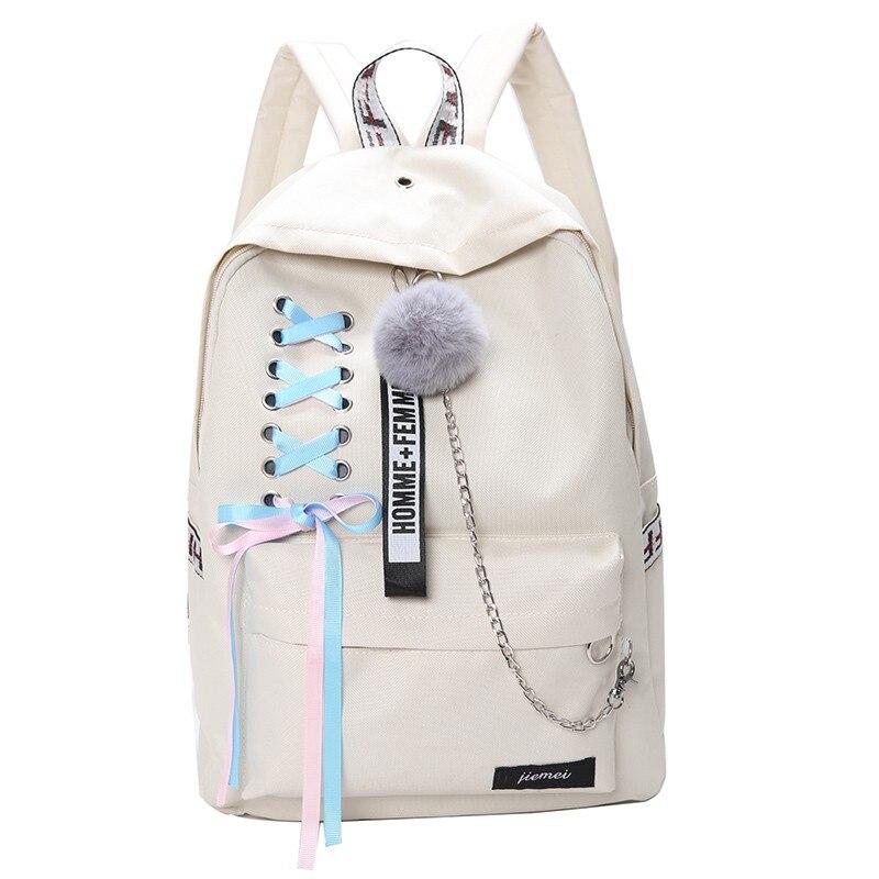 NIBESSER 4 шт./компл. Для женщин школьные рюкзаки из нейлоновой школьный рюкзак для девочек-подростков; обувь для девочек; обувь для студентов; су...