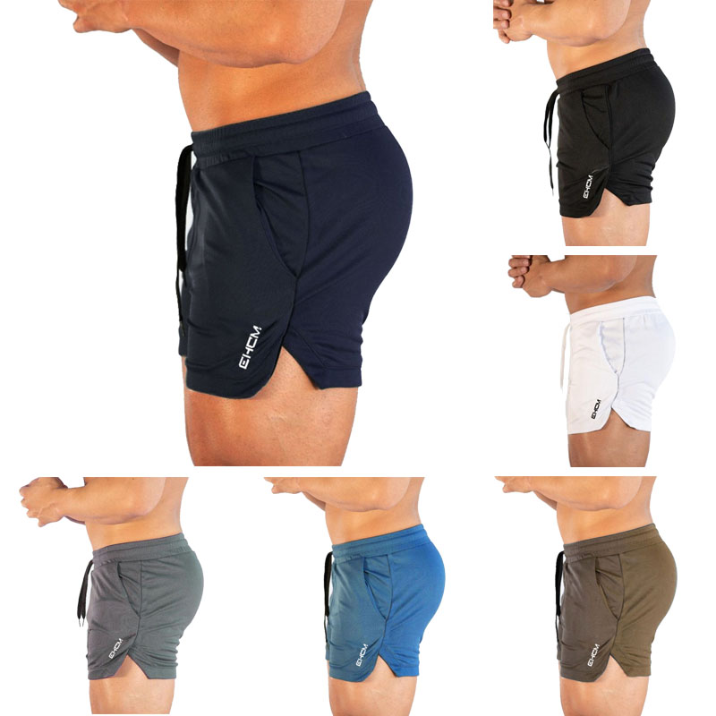 Men's Bermuda Beach Pants Sports Shorts Men's Breathable Fitness Bodybuilding Nets Quick-drying Fitness Equipment Sportswear