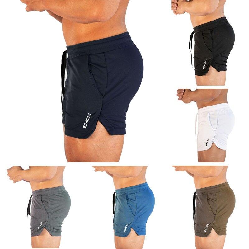 Men's Bermuda Beach Pants Sports Shorts Men's Breathable Fitness Bodybuilding Nets Quick-drying Fitness Equipment Sportswear