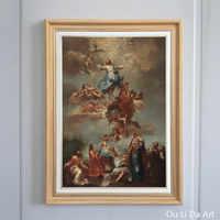 Livraison gratuite classique religieux figures anges jésus ciel impressions sur toile peinture à l'huile sur toile mur art décoration photo